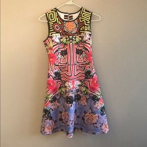 Clover Canyon Multi-Pattern Dress